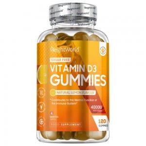 120 Vitamin D3 Gummies 4000IU, 4 month supply.