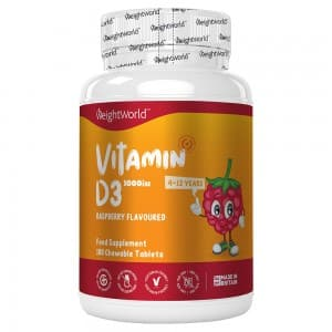 Vitamin D3 Chewable Tablets For Kids | Food Supplement for Bone & Joint Care and Natural Immunity Boost