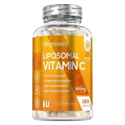 Product Label Image of WeightWorld Liposomal Vitamin C 1000 mg 180 Capsules