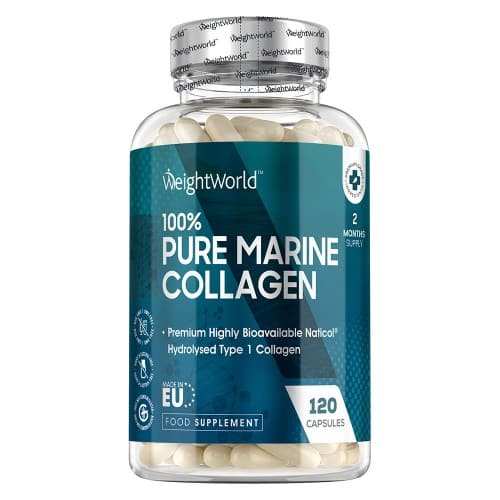 Marine Collagen Capsules - 1170mg 120 Capsules. High-Potency Supplement