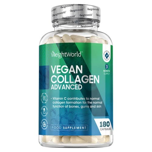 Vegan Collagen - 500mg 180 Capsules - 100% Plant Based Collagen Supplement by