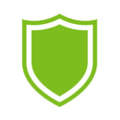 green shield to represent protection from free radicals