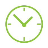 image of a green clock to represent daily regularity