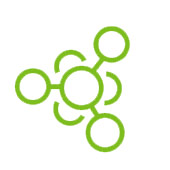 green cartoon that is a chemical compound to represent amla