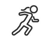 cartoon image of woman running to show becoming more active