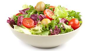 salad bowl to show that you can use spirulina for Vinaigrette Salad Dressing