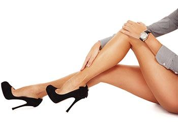 image of a womans legs to show how to get slim legs