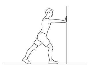 image of a cartoon man doing stretches to show how to stretch muscles