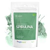 front view of packaging for weightworld bio spirulina powder