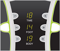 electrode pad controls for weightworld circulator