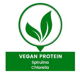 vegan protein spirulina chlorella