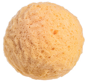 Round yellow konjac sponge to naturally clean, exfoliate and love your skin